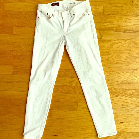 J Crew white skinny jeans size 29